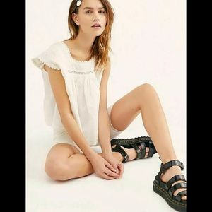FREE PEOPLE Meant For Your Embroidery Top $98